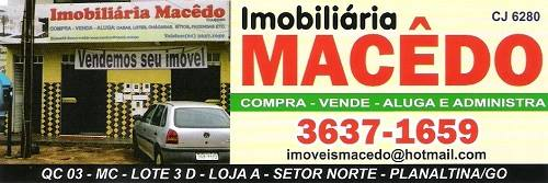 Imobiliária Macedo – Imóveis – EMPRESA – PLANALTINA – GO – BR