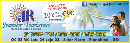 JR Junior Turismo – Agência de Viagem, Turismo e Transporte – EMPRESA – PLANALTINA – GO – BR