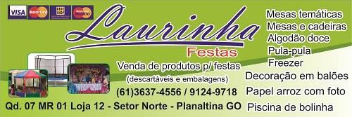 Laurinha Festas – EMPRESA – PLANALTINA – GO – BR