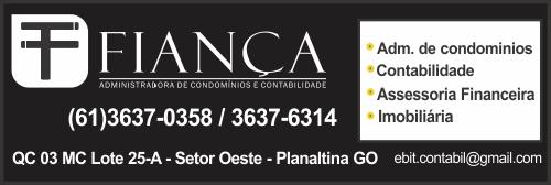 Fiança – Administradora de Condomínios e Contabilidade – EMPRESA – PLANALTINA – GO – BR