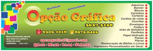 Opção Gráfica – EMPRESA – PLANALTINA – GO – BR