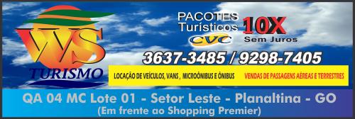 WS Turismo – Agência de Viagem, Turismo e Transporte – EMPRESA – PLANALTINA – GO – BR