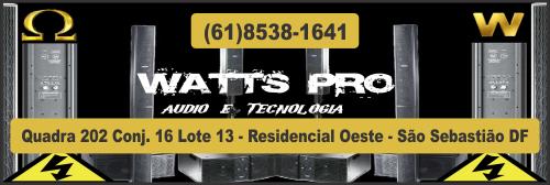 Watts Pro – Áudio e Tecnologia – EMPRESA – SÃO SEBASTIÃO – DF – BR