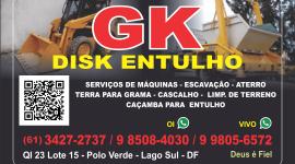 GK – Entulho e Serviços – EMPRESA – LAGO SUL – DF – BR